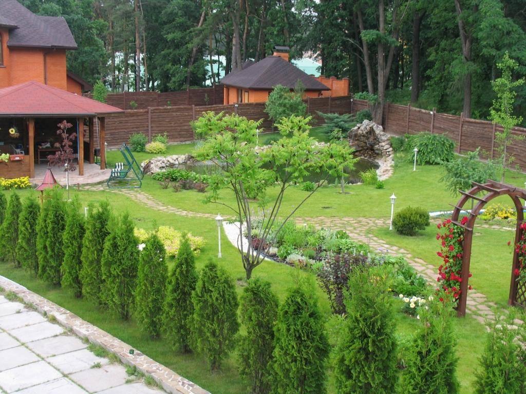 Двор частного дома - дизайн и обустройство территории, фото примеров