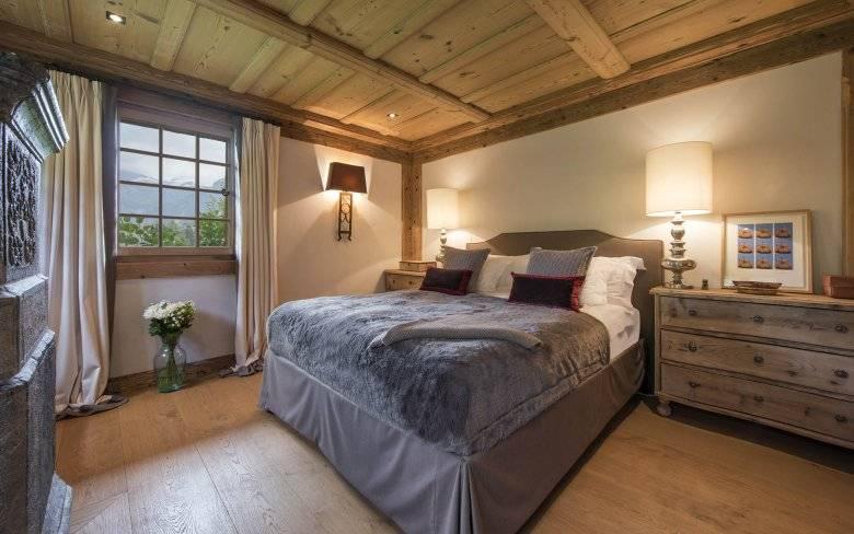 Интерьер в стиле шале - дизайн гостиной, спальни, кухни