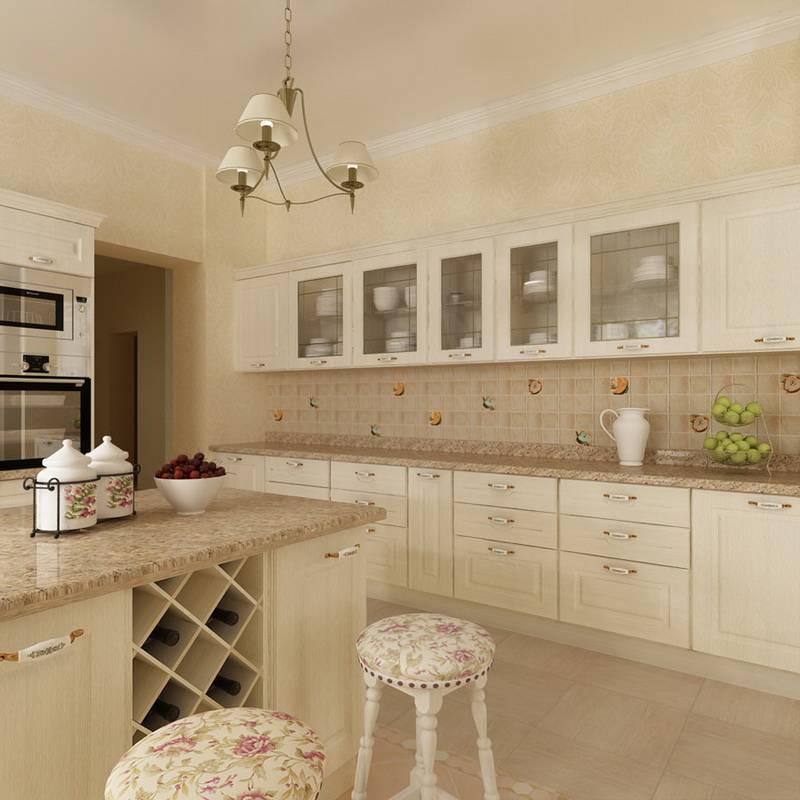 Бежевая кухня: 110 фото популярных вариантов классических проектов в бежевых тонах