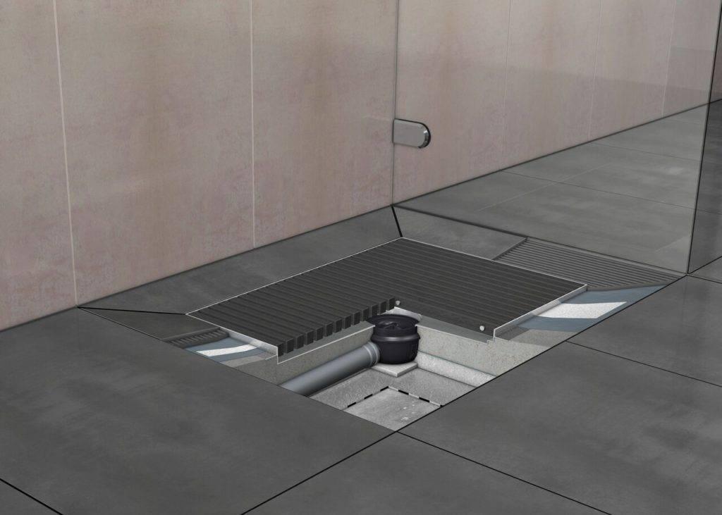 Установка трапа для душа в полу под плитку