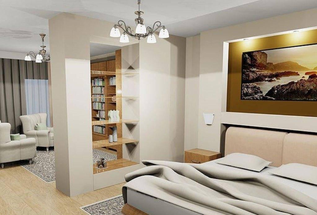 Гипсокартонные перегородки для зонирования пространства в комнате (9 фото)
