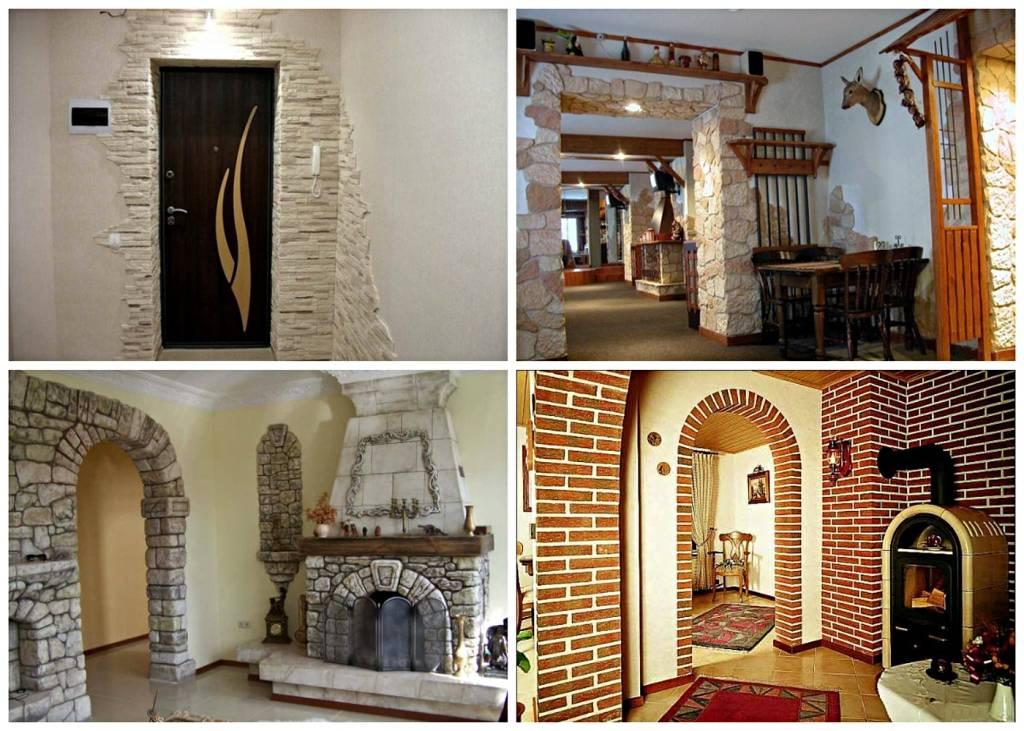 Отделка дверей декоративным камнем своими руками: внутренняя и наружная облицовка входных проемов и откосов вокруг них в квартире, фото вариантов работ