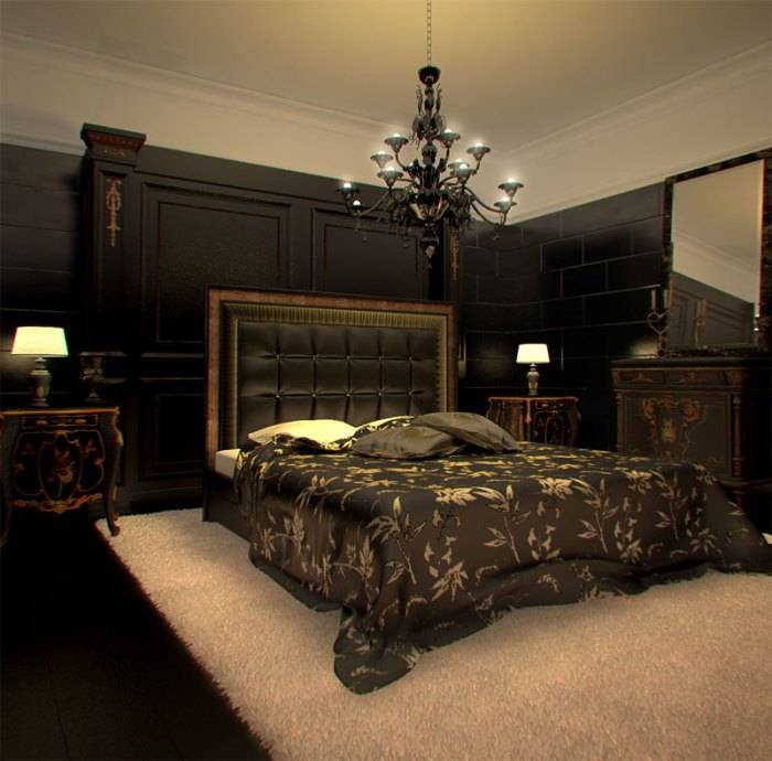 Темный интерьер (83 фото): сочетание цвета венге с другими цветами в интерьере. темные стены и шторы, темный линолеум и мебель в интерьере