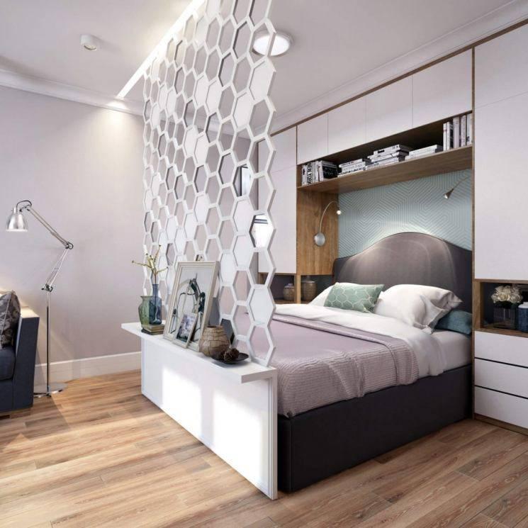 Как зонировать комнату на спальню-гостиную 17 кв м