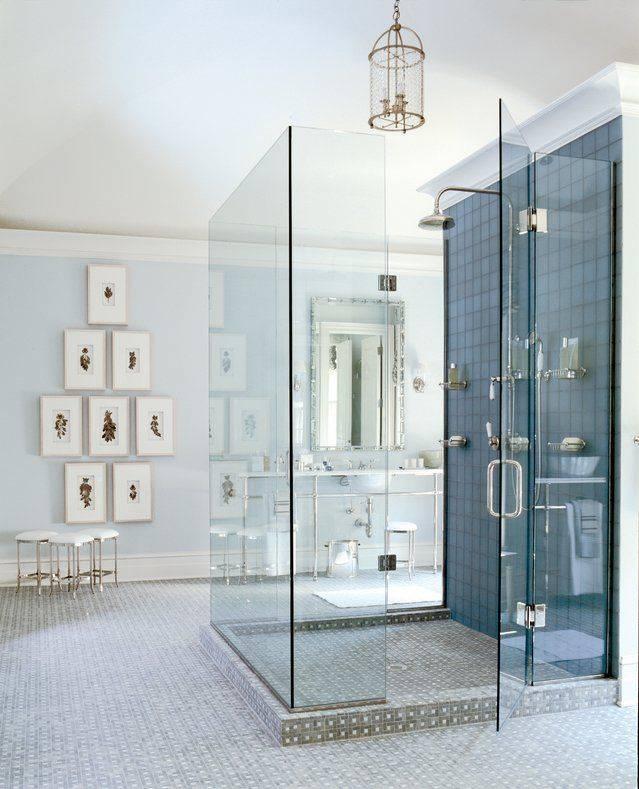 Варианты дизайна душевых комнат в частном доме
