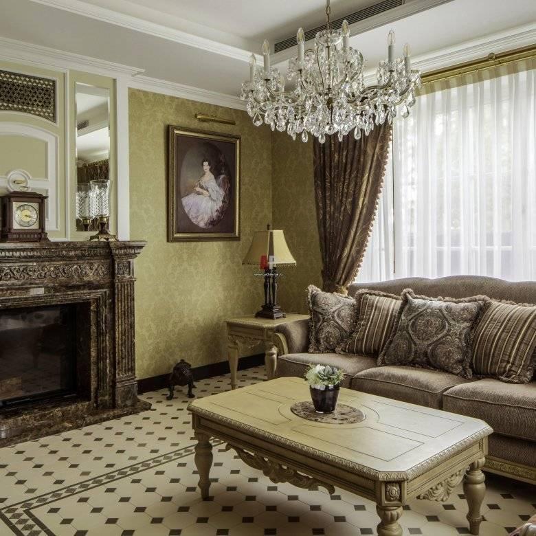 258 594 фото: гостиная в стиле современная классика