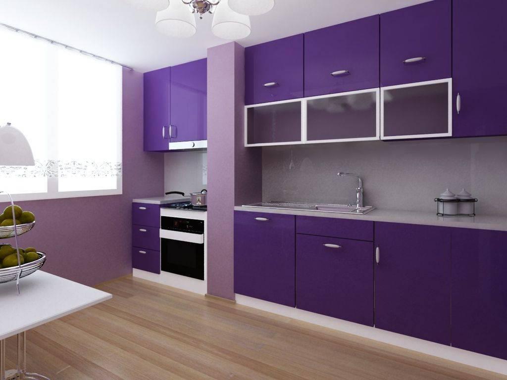 Дизайн фиолетовой кухни: главное - чувство меры!