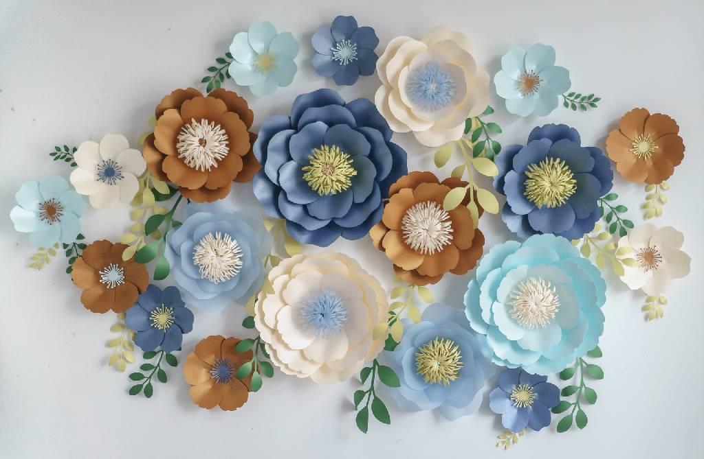 Цветы из бумаги шаблоны своими руками. пошаговые инструкции, схемы + 500 фото