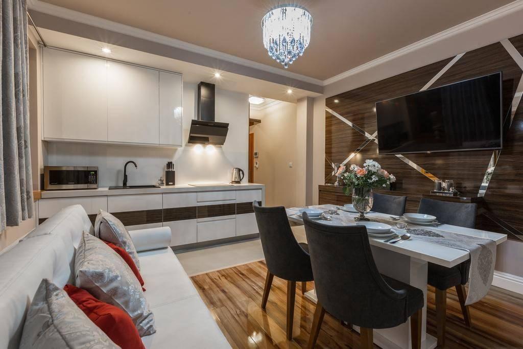 Дизайн кухни-гостиной 15 кв.м. [лучшие интерьеры 2019 года]