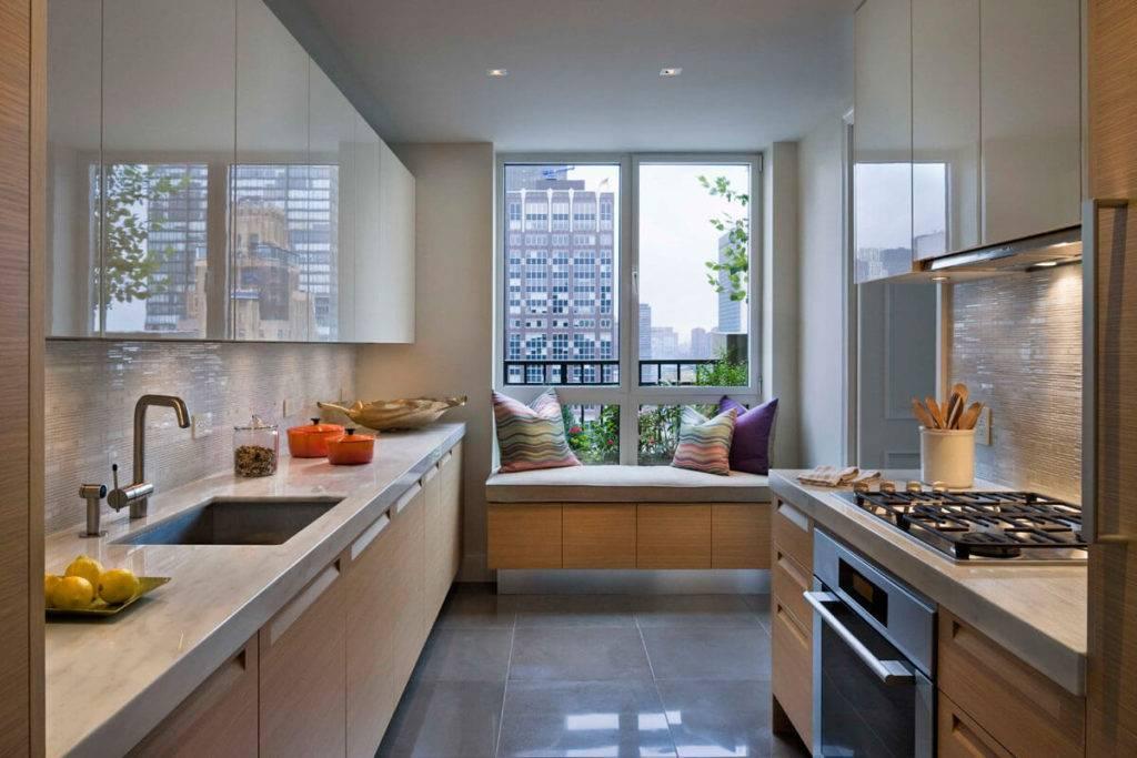 Кухня с раковиной у окна - дизайн и особенности размещения (+50 фото идей)