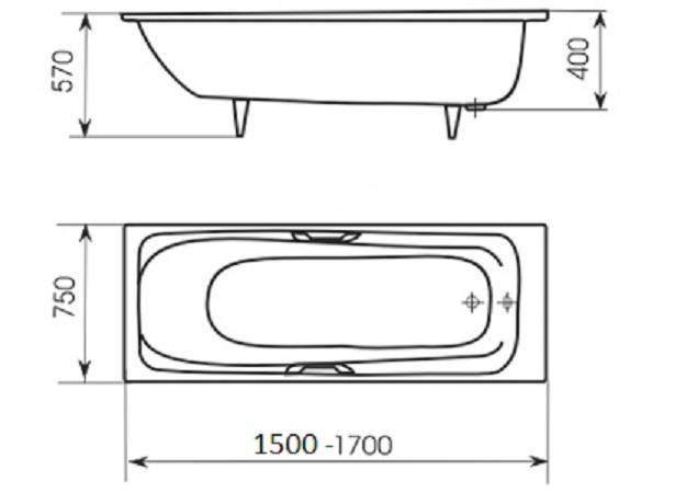 Размеры ванн - каковы стандарты и выбор оптимальных габаритов