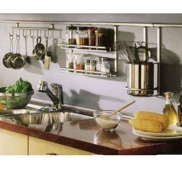 Рейлинги для кухни, полки, аксессуары на кухню, всякие крепления в интерьере, рейлинги классика