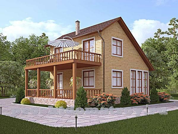 Варианты оформления дизайна двухэтажного дома с балконом и террасой