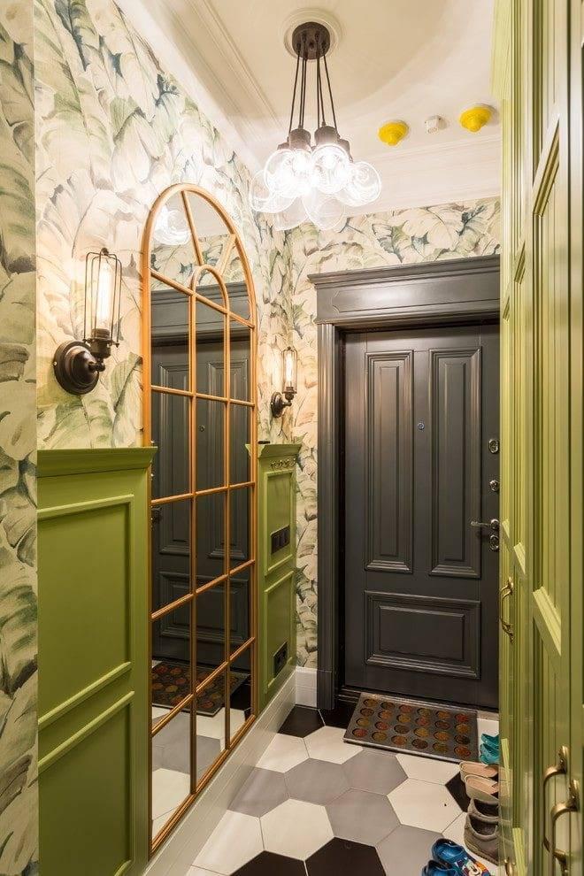 Идеи оформления стен в маленьком коридоре и прихожей: фото и выбор дизайна обоев