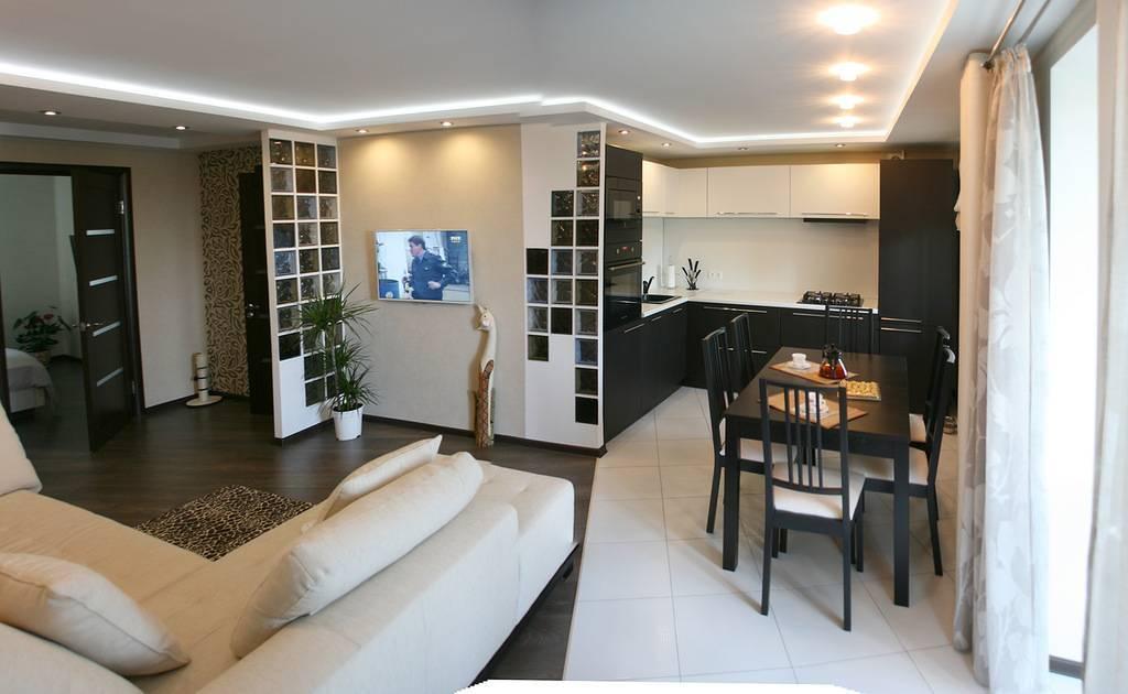 Перегородки между кухней и гостиной: правильное зонирование комнат