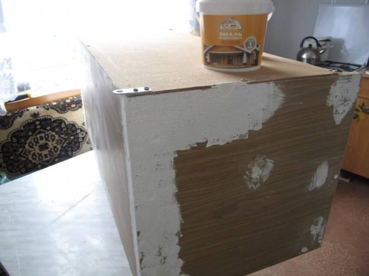Покраска шкафа (старого, из дсп, кухонного) своими руками