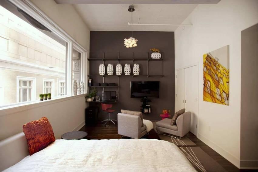 Современный дизайн однокомнатной квартиры, идеи + фото