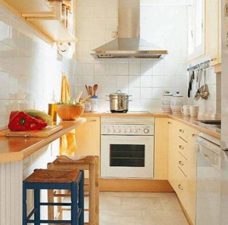 Малогабаритные кухни до 6 метров (33 фото)