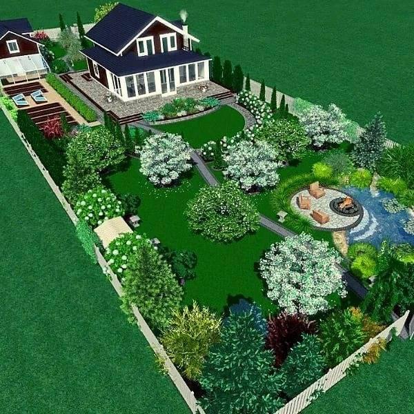 Планировка участка 15 соток: реальный опыт. пример и схема, как распланировать участок 15 соток. | красивый дом и сад