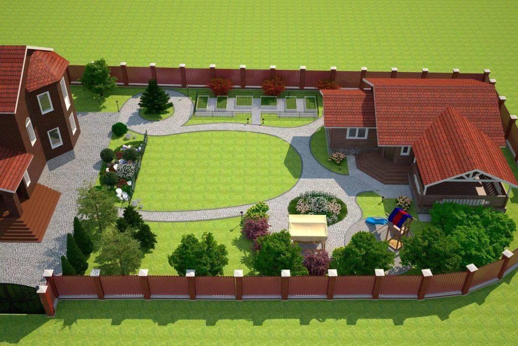 Ландшафтный дизайн дачного участка площадью 10 соток
