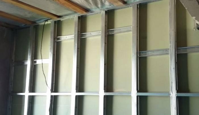 Стена из гипсокартона своими руками: технология установки