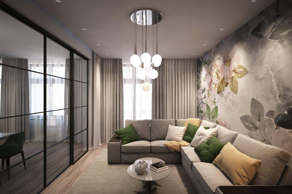 Дизайн зала площадью 18 кв. м в квартире (90 фото): интерьер гостиной комнаты прямоугольной формы размером 18 квадратов