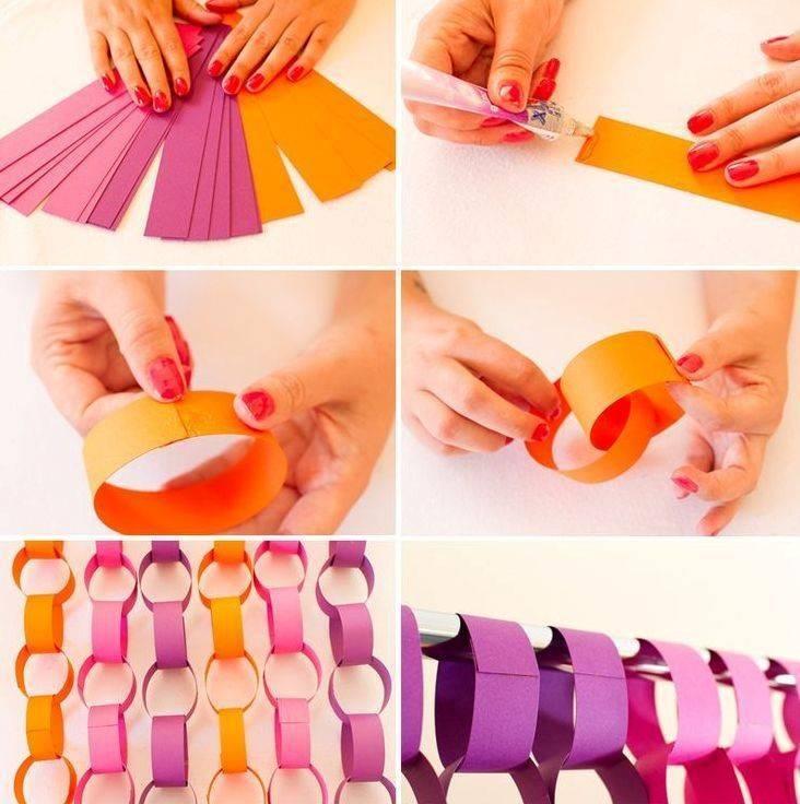 Гирлянды из бумаги своими руками — пошаговая инструкция как сделать своими руками быстро и просто (75 фото)