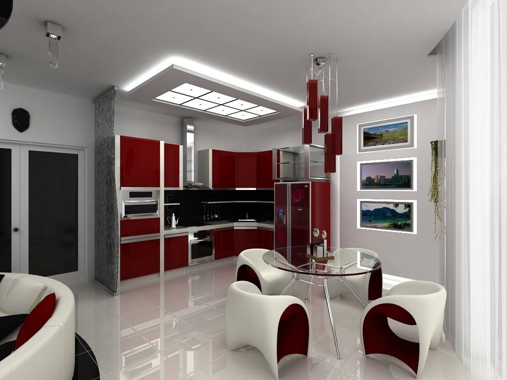 Кухня в стиле хай-тек: 92 фото, популярные материалы, мебель, цветовая гамма