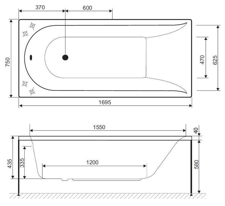 Размеры чугунной ванны и другие эксплуатационные характеристики