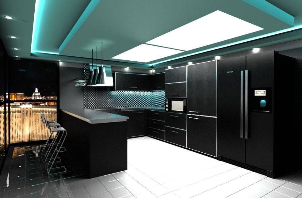 Интерьер кухни в стиле хай-тек: за и против