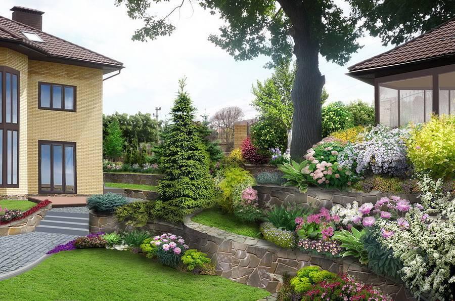 Ландшафтный дизайн дачного участка: топ-50 фото двора у загородного дома