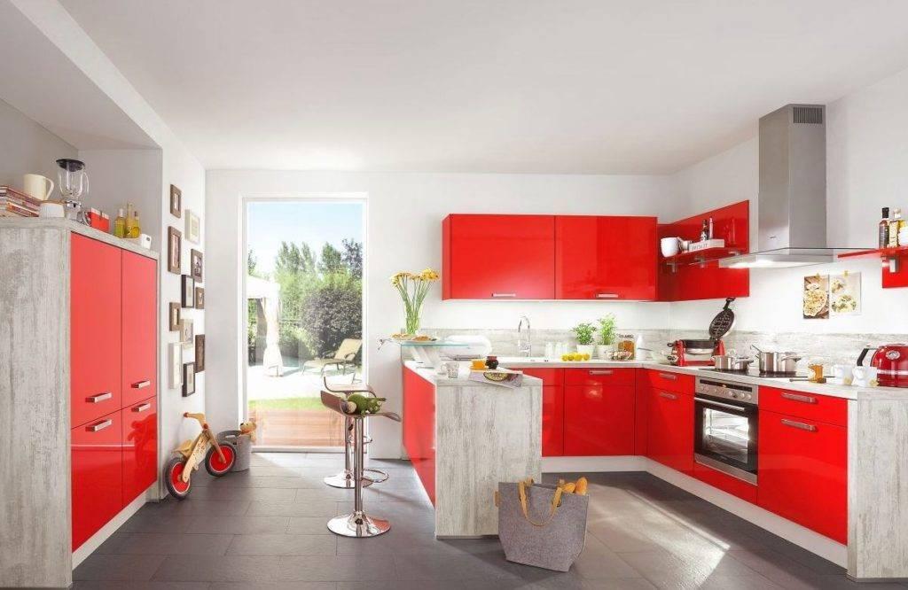 Красная кухня - 5 советов по дизайну и 85 фото