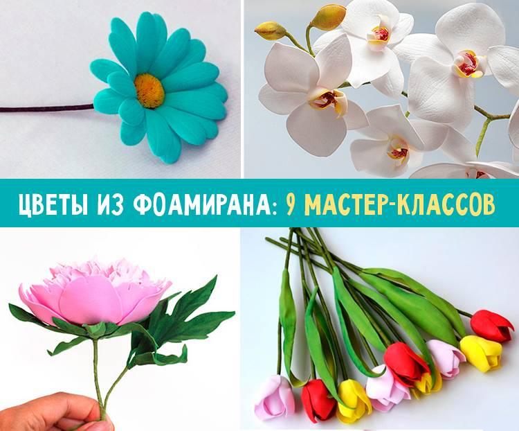 Цветы из фоамирана своими руками: 10 мастер-классов, шаблоны, как сделать цветы