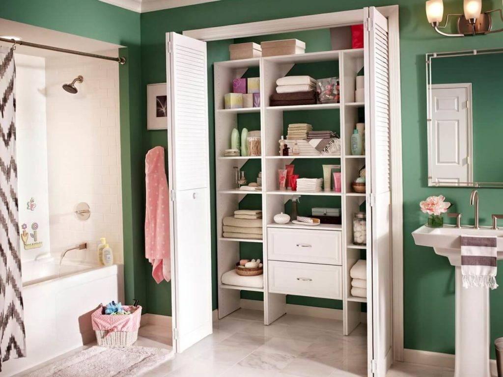 Устройство и виды встроенных шкафов в ванную комнату