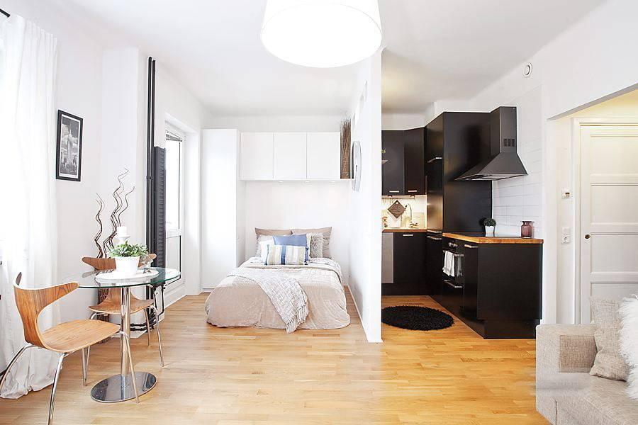 Дизайн кухни студии 20 кв м (18 фото)