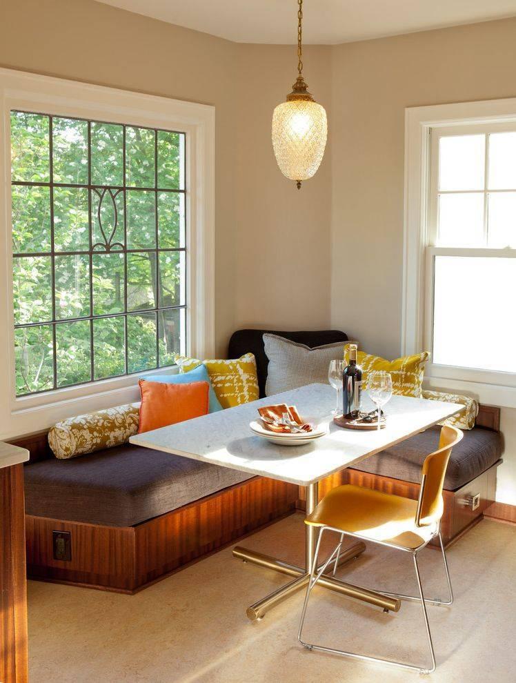 Кухонный уголок – варианты обивки мебели, советы по выбору и использованию в интерьере