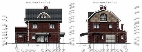 Проекты г образных домов с гаражом под одной крышей