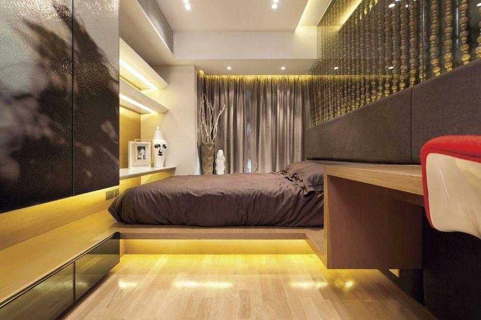 Спальня в стиле хай-тек: особенности оформления, фото в интерьере