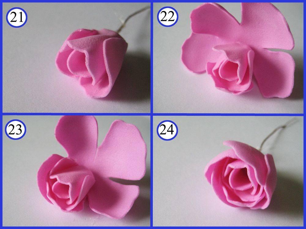 Цветы из фоамирана своими руками - 125 фото классных поделок фоамирана и особенностей их изготовления