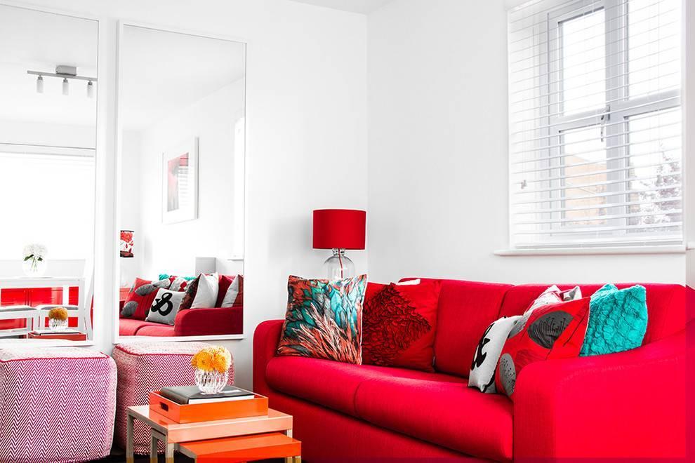 Бордовый цвет в интерьере: сочетание с другими оттенками