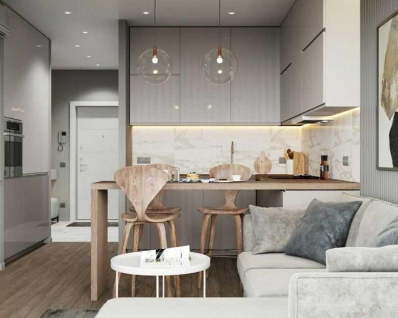 Дизайн кухни-гостиной 20 м2: 70 свежих идей с фото