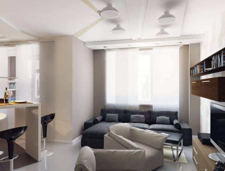 Дизайн кухни размером площадью 20 кв. м