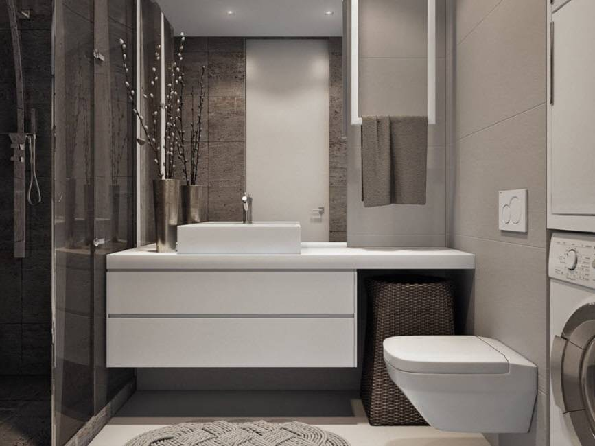 Ванная 4 кв. м.: стильный дизайнерский интерьер для маленькой ванной комнаты (70 фото) – строительный портал – strojka-gid.ru