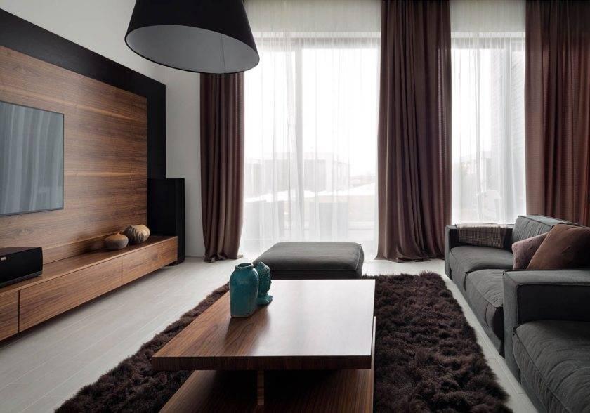 Какие шторы подойдут к коричневым обоям: лучшие сочетания