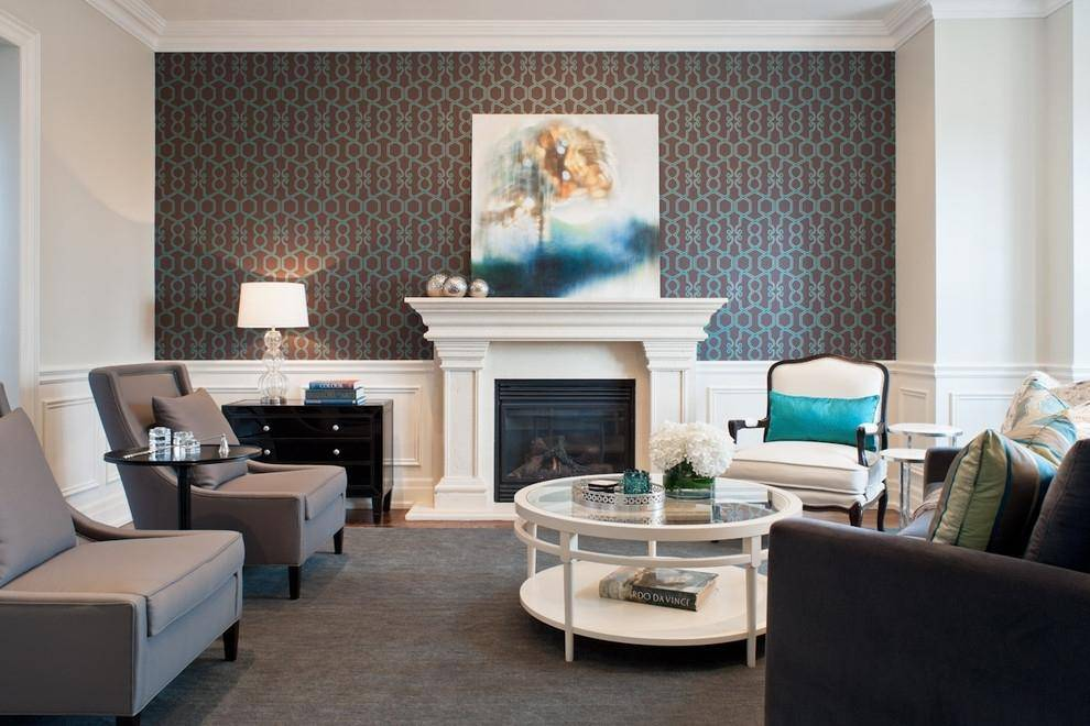 Дизайн стен в гостиной фото: интерьер сделать, акцентная или темная, пустой камень, покраска своими руками, две