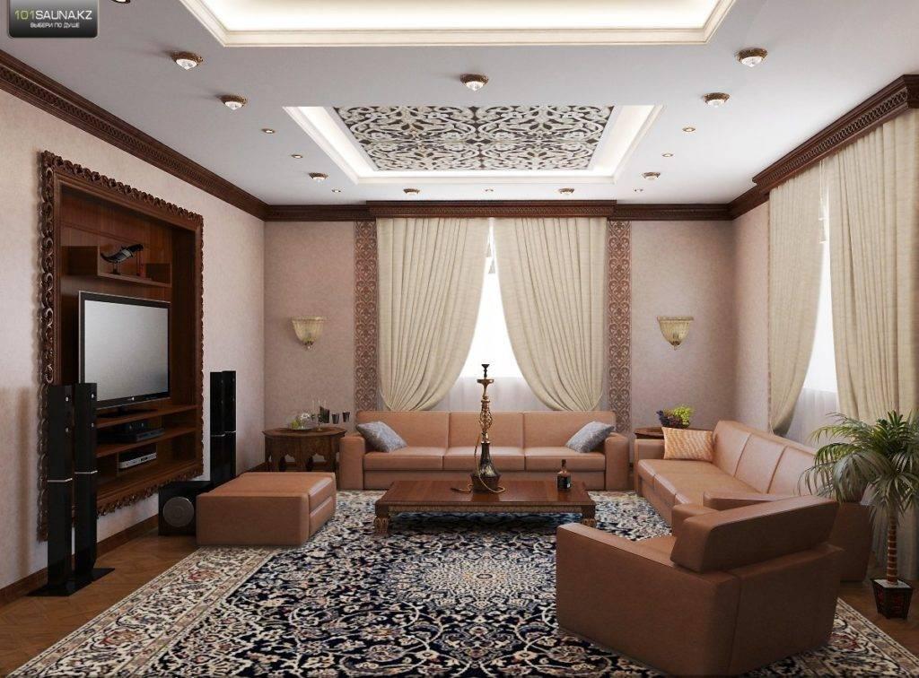 Дизайн потолка в гостиной — 70 фото идей необычных дизайнерских решений
