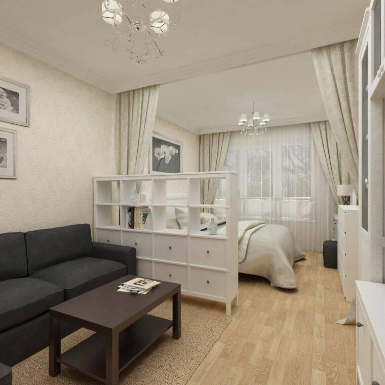 Современный интерьер однокомнатной квартиры: 205+(фото) стилей