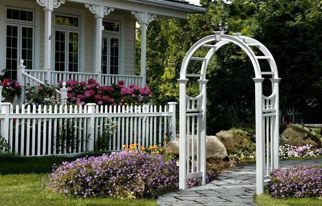 Металлические садовые арки в ландшафтном дизайне
