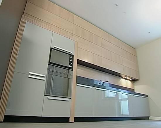 Установка духового шкафа в кухонный гарнитур: интерьер кухни со встроенными шкафами