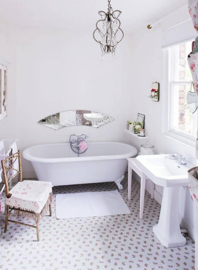 «потёртая роскошь». дизайн ванной комнаты в стиле шебби-шик